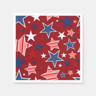 4th of July Fun - Red Disposable Napkins
