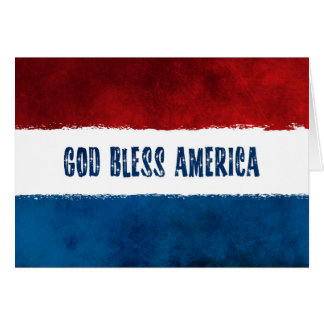 4th of July GOD BLESS AMERICA Card