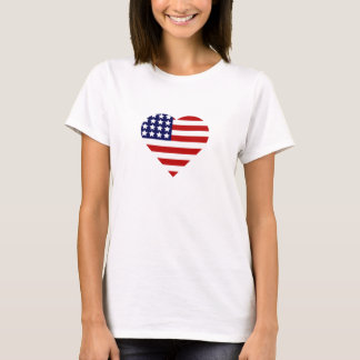 4th of July Heart T-Shirt