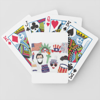 4th of July holiday - Independence Day Bicycle Playing Cards