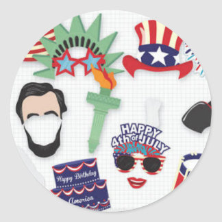 4th of July holiday - Independence Day Classic Round Sticker