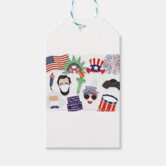 4th of July holiday - Independence Day Gift Tags