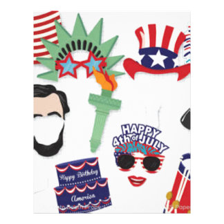 4th of July holiday - Independence Day Letterhead