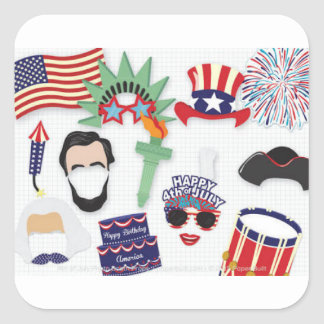 4th of July holiday - Independence Day Square Sticker