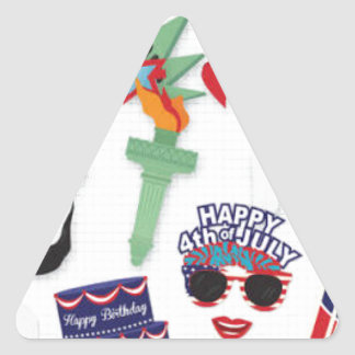 4th of July holiday - Independence Day Triangle Sticker