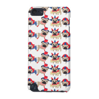 4th of July Independece Day Pugs iPod Touch 5G Case