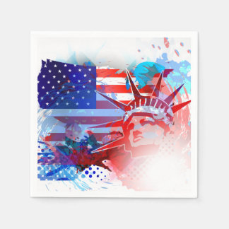 4th Of July Independence Day Paper Napkin