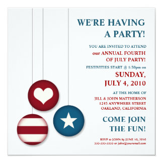 4th of July Independence Day | Party Invitations