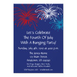 4th Of July Invitation (Star Spangled Fireworks)