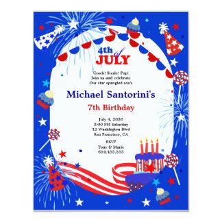 4th of July Kid's Birthday Party Invitation