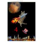 4th of July Kitty Card