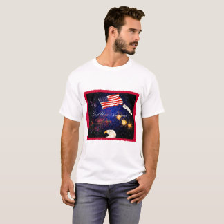 4th of July montage tee