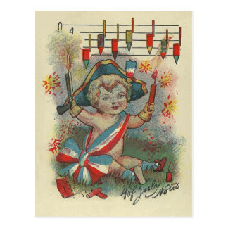 4th of July Notes Postcard
