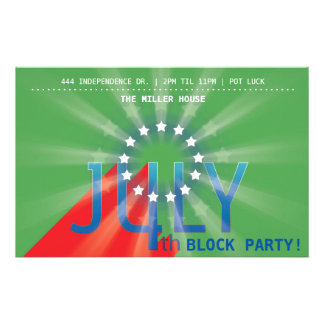 4th of July Party (green) Flyer