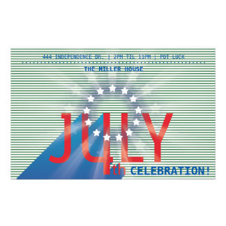 4th of July Party (green) Personalized Flyer