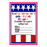 4th of July Party Invitation Customized Stationery