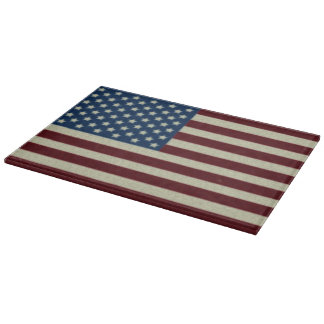4TH Of July Party Red White And Blue American Flag Cutting Board