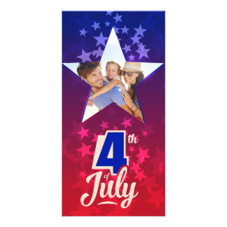 4th of July personalized insert template Photo Card Template