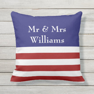 4th of July Personalized Outdoor Pillow