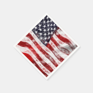 4th of July Picnic Paper Napkins, American Flag Paper Napkins