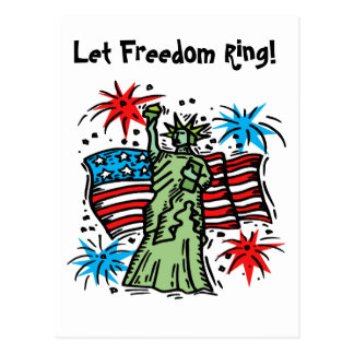 4th of July Postcard: Lady Liberty Postcard