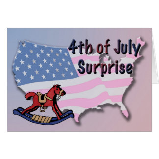 4th of July Pregnancy Announcement Card