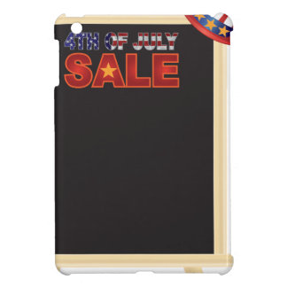 4th of July SALE sign board with Hat Illustration iPad Mini Cases