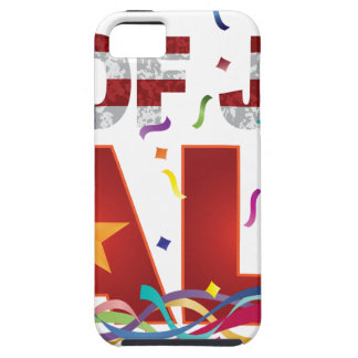 4th of July Sale Text with US Flag Confetti iPhone 5 Case