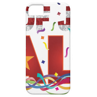 4th of July Sale Text with US Flag Confetti iPhone 5 Cover