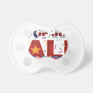 4th of July Sale Text with US Flag Confetti Pacifier