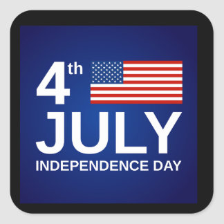 4th of July Square Sticker