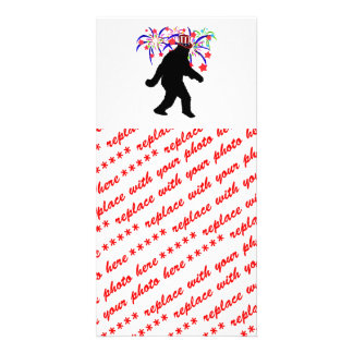 4th of July Squatchin' w/Fireworks Picture Card