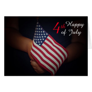 """4th of July Standard (5"""" x 7""""), white envelopes Card"""