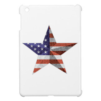 4th of July Star Outline with USA Flag Texture iPad Mini Covers
