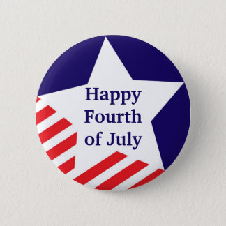 4th of July star stripe red white blue custom 2 Inch Round Button