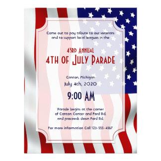 4th of July Stars and Stripes Forever Flag Flyer Design