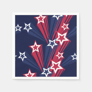 4th Of July Stars Paper Napkins