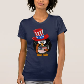 4th Of July The Patriotic Penguin Cute T-Shirt