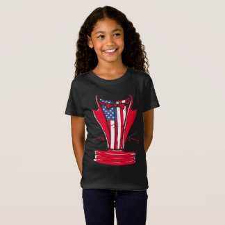 4th Of July Tuxedo T-Shirt With Red Bow Tie