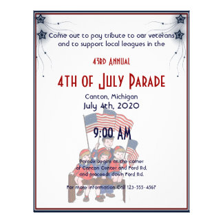 4th of July Vintage Patriotic Kids Personalized Flyer