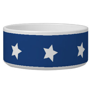 4th Of July White Stars on Navy Background Pattern