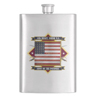 4th Ohio Volunteer Infantry Hip Flask