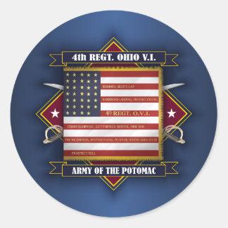 4th Ohio Volunteer Infantry Round Sticker