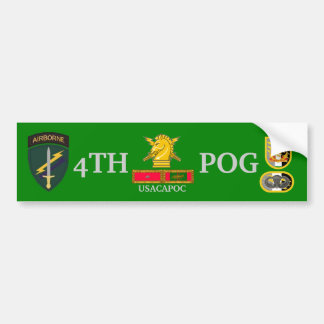 4TH PSYOPS GROUP BUMPER STICKER