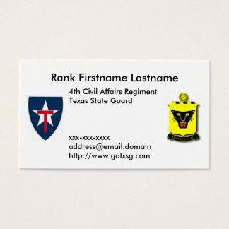4th Regt TXSG Business Card