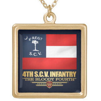 4th South Carolina Infantry Gold Plated Necklace