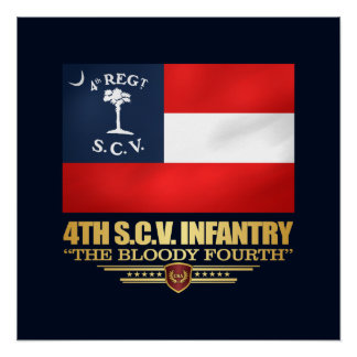 4th South Carolina Infantry Poster