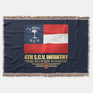 4th South Carolina Infantry Throw Blanket