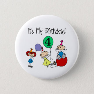 4th Stick Kids Party 2 Inch Round Button