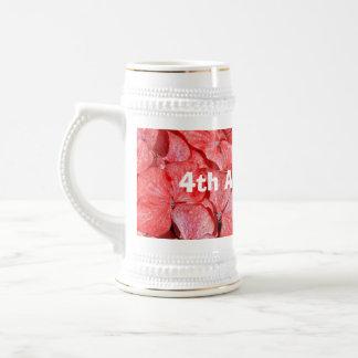 4th wedding anniversary - Hydranga 18 Oz Beer Stein